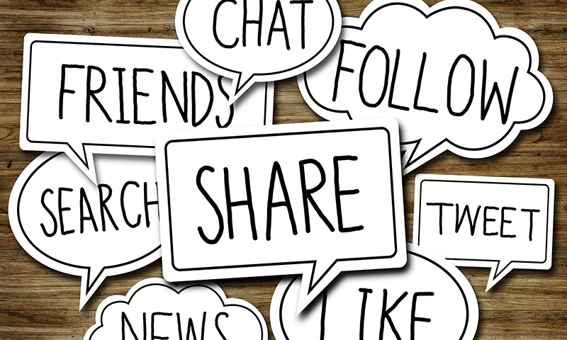Social Network Concepts in Speech Bubbles